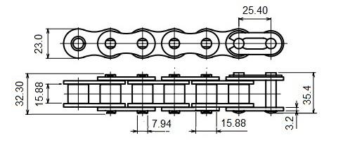 Xích 80-1R TPC