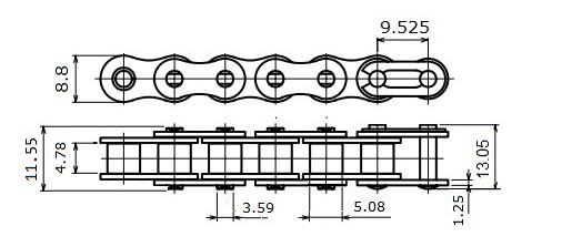 xích TPC 35-1R